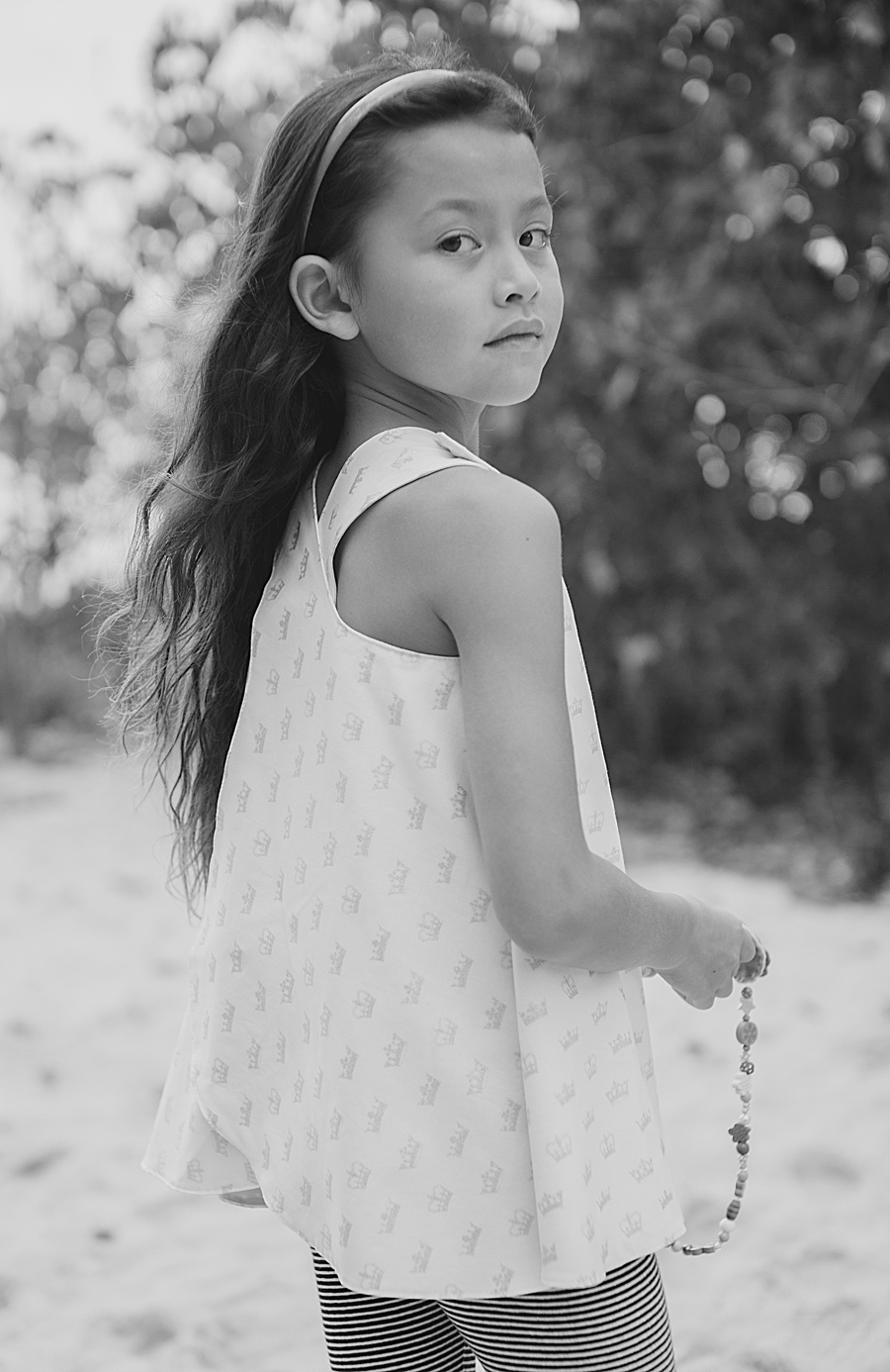 Black and White Maui Family Photography