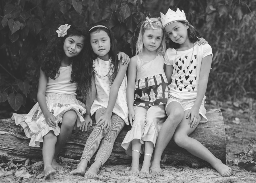 Black and White Children's Photography