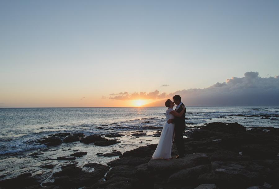 maui wedding sunset