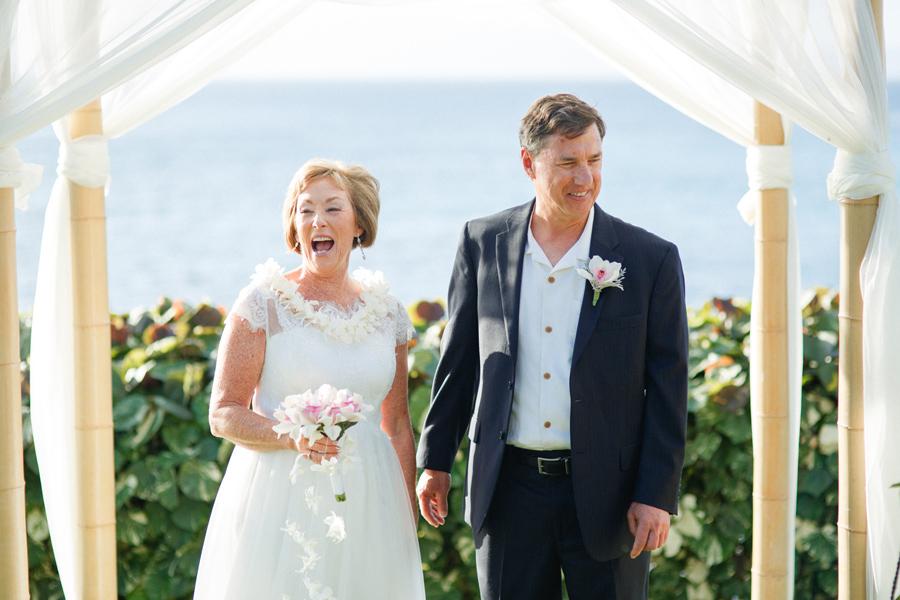 bride and groom maui wedding