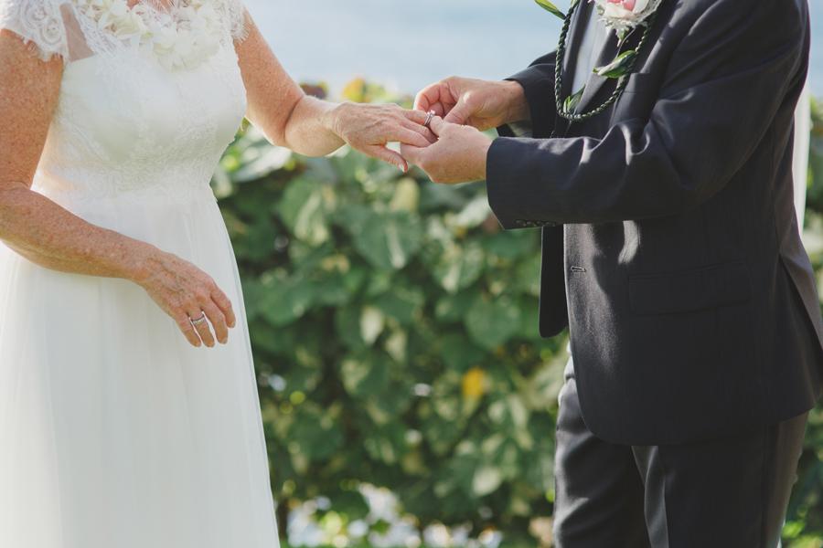 ring exchange maui wedding