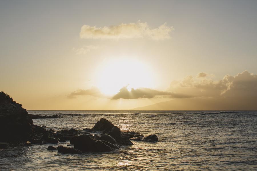 Kapalua bay maui sunset