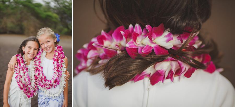 orchid lei flower girls