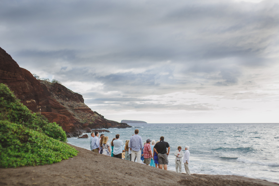 hawaii beach wedding sunset