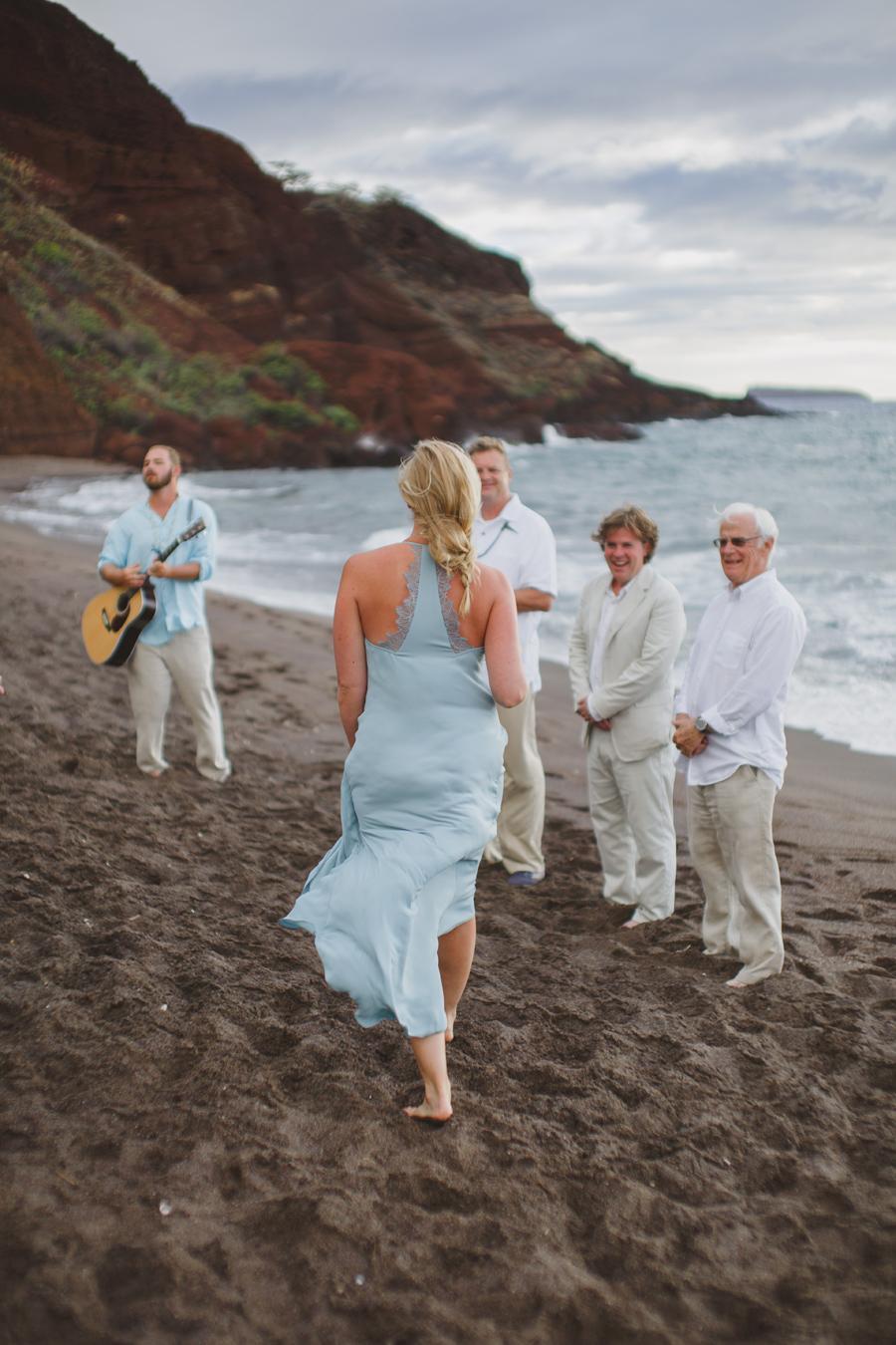 maui beach wedding maid of honor