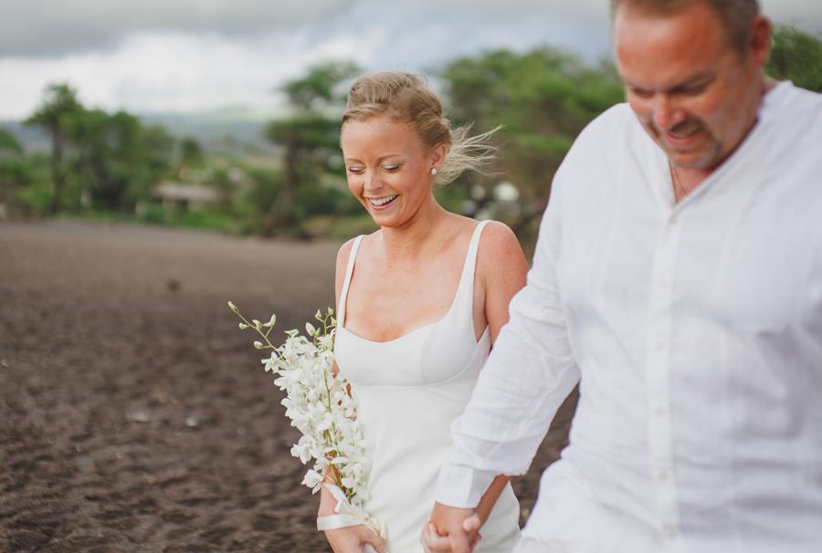 happy maui bridal portrait
