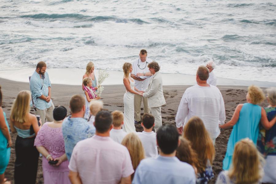 maui small wedding friends