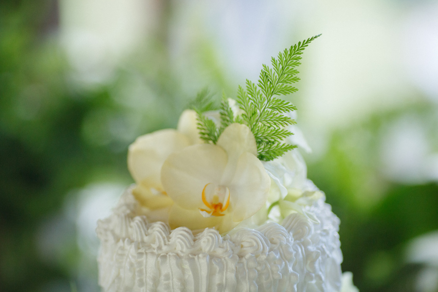 orchid maui wedding cake