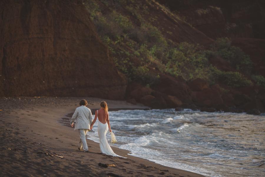 beach walk maui wedding