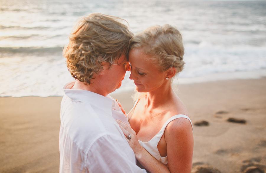 intimate maui wedding photography