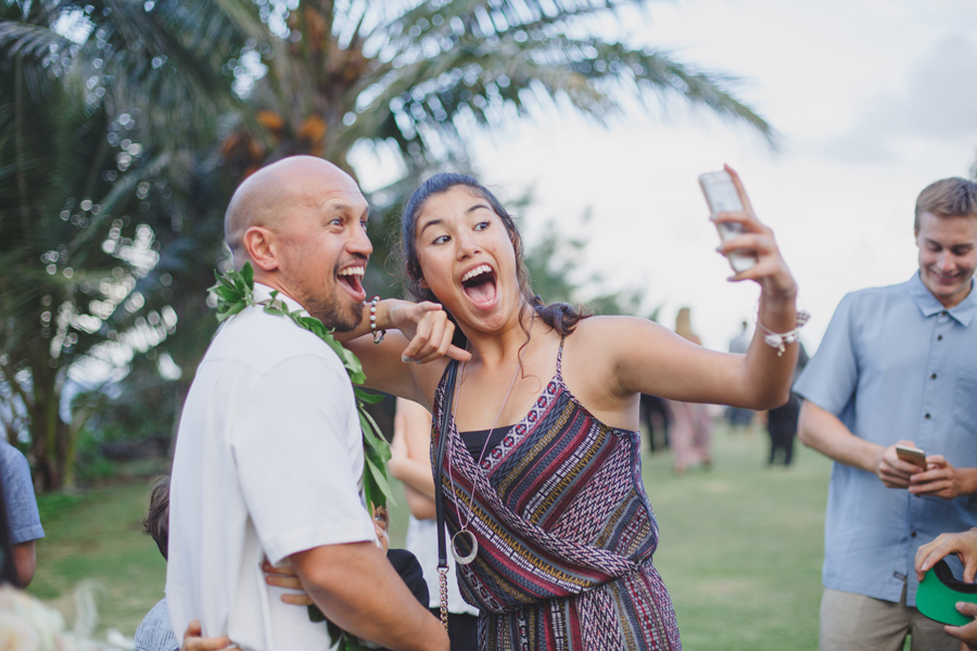 maui wedding selfie