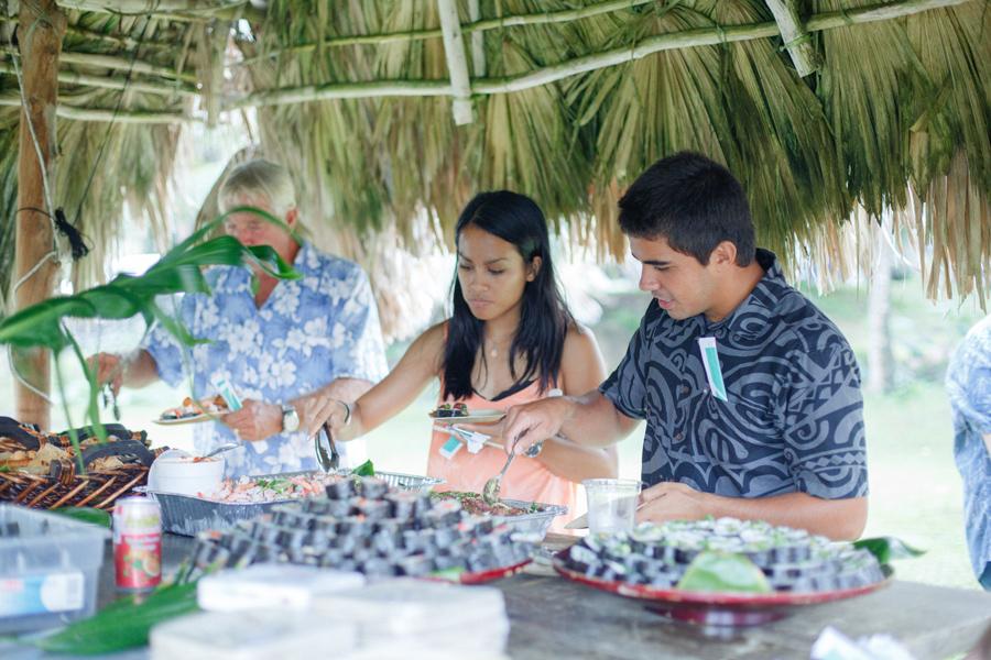 maui wedding guests pupus