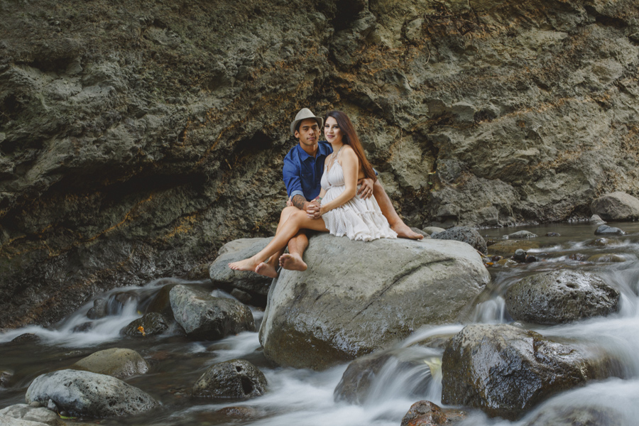 Slow shutter speed engagement photography