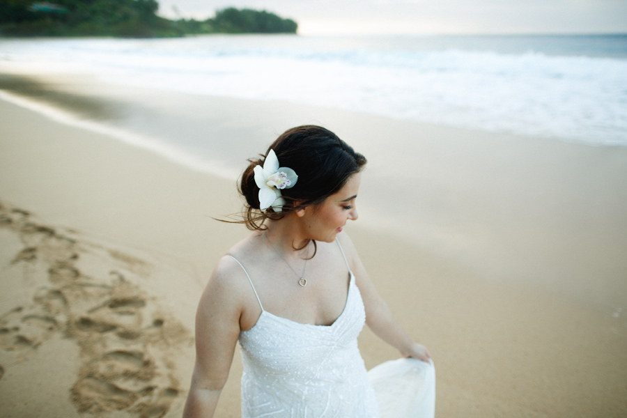 kauai bridal portait