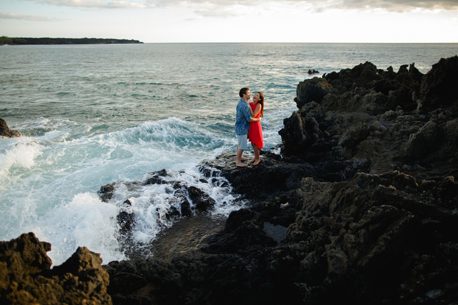 engagement photography by the ocean on maui