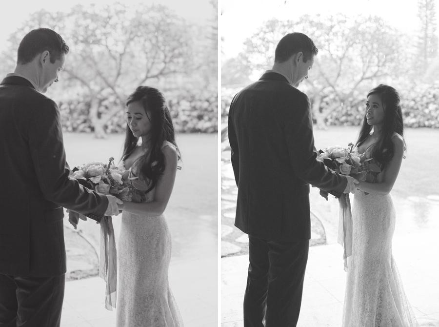 first look maui wedding photographer