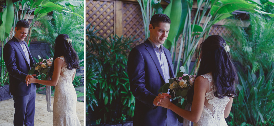 first look maui wedding photography