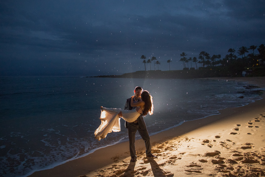intimate maui wedding photographer