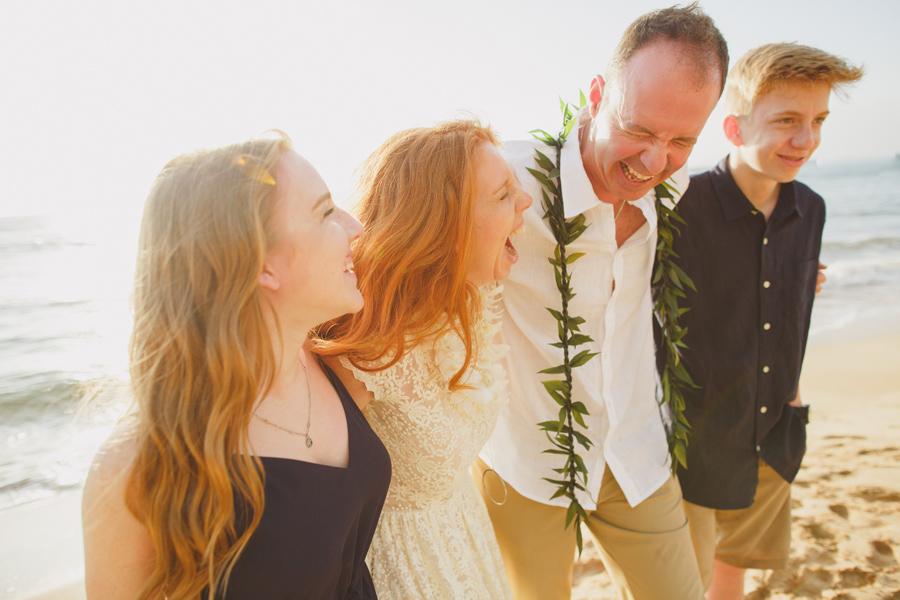 Silly Beach Wedding Maui