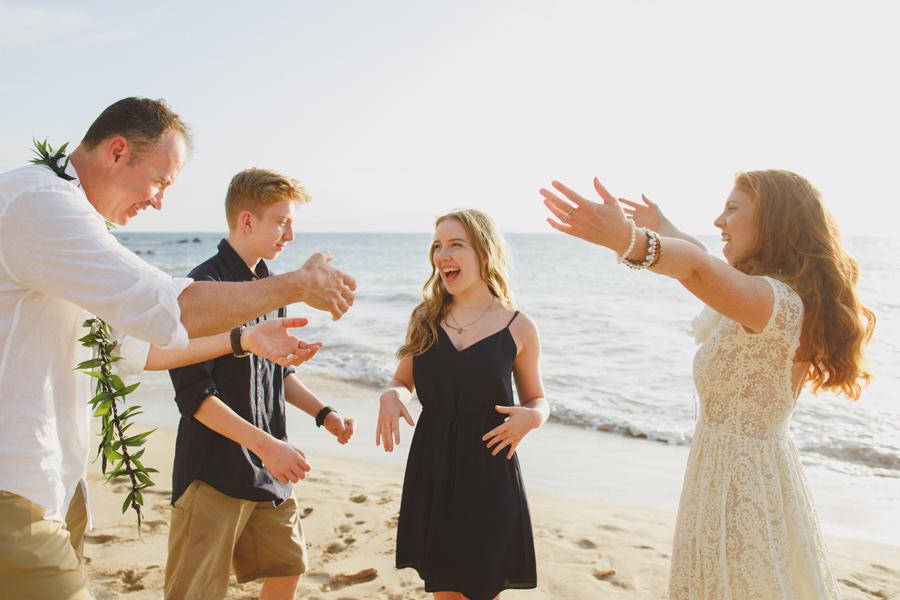 Free Spirited Beach Wedding Maui