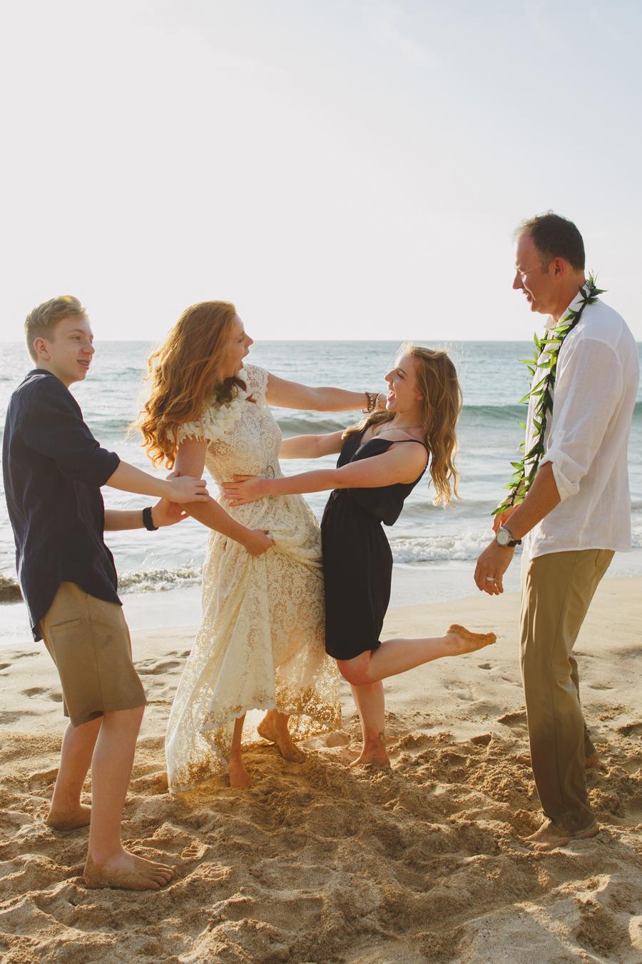 Family Fun Wedding Photography Maui