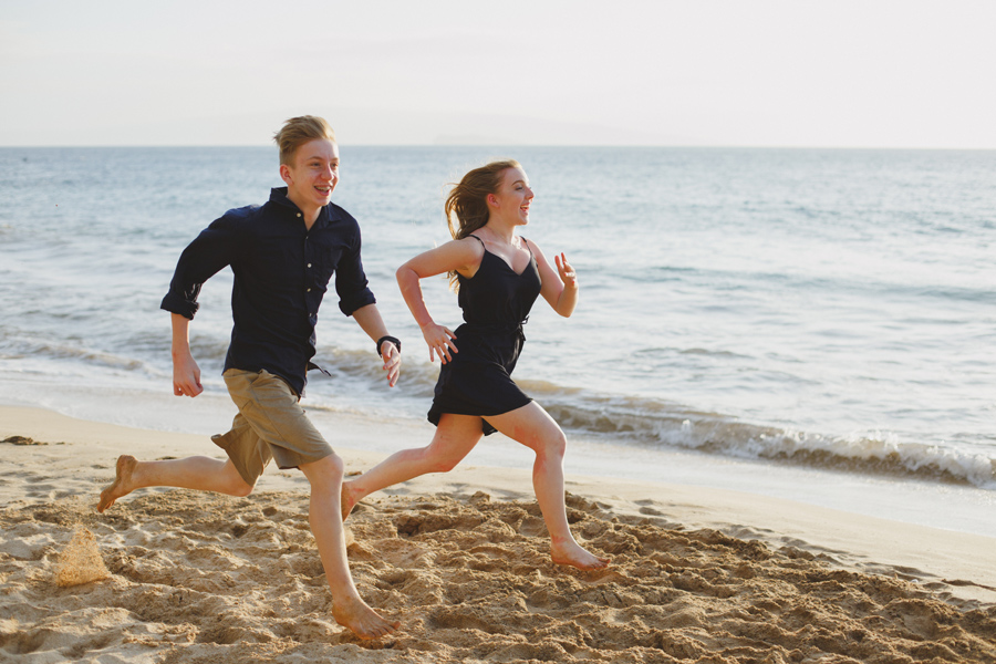 Running On The Beach Maui