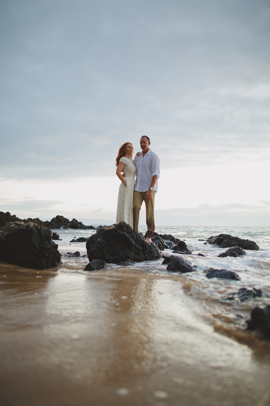 White Rock Beach Elopement Maui