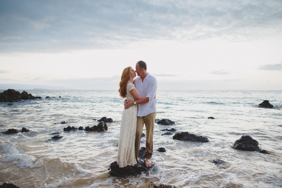 Romantic Palauea Beach Elopement