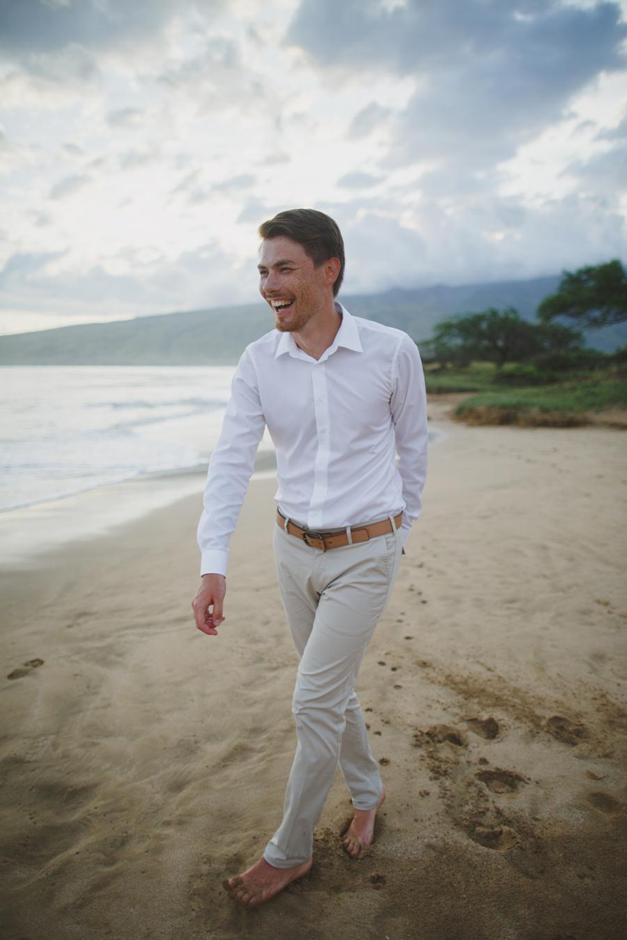 Groom Portrait Photography Maui