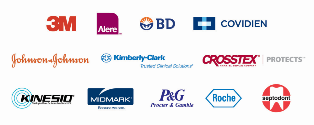 Just a few of the over 400 manufacturers Alban distributes products for.