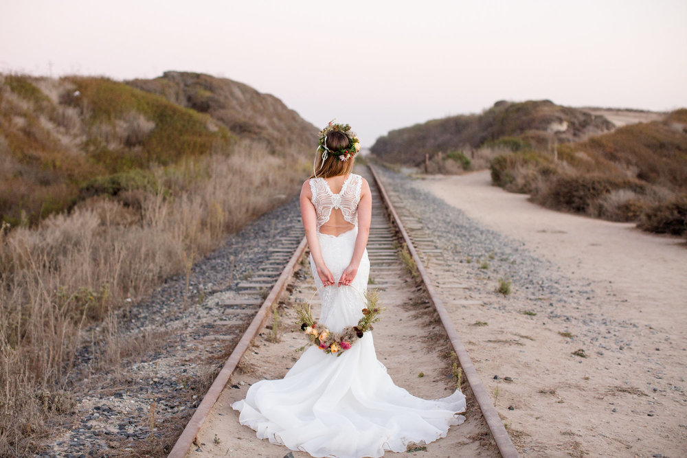 FLORAL HOOPS AND BEACH BOHO - Images by DeJoy Photography http://dejoyphotography.com