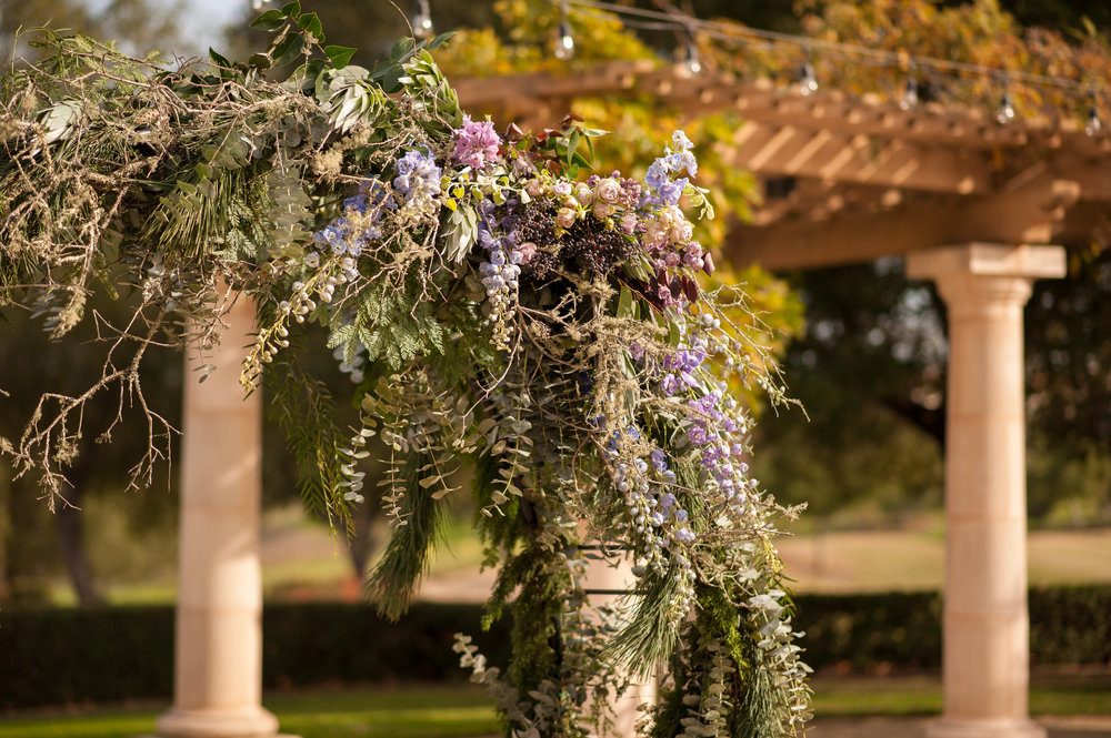 luxury Moon GATE florals AT RUBY HILL - Images by Jen Vazquez Photography https://jenvazquez.com