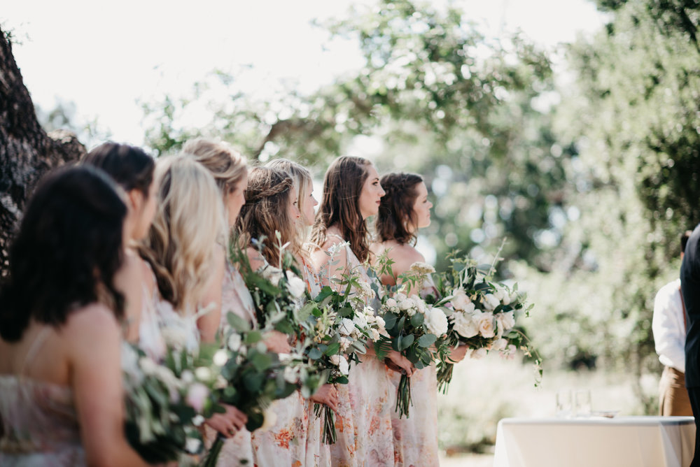 Blush, White, Greens and classic elegance -