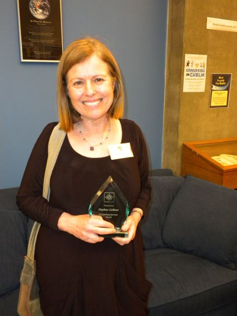 In 2010 Daphne received a Counselling Services Award from the Jewish Family Service Agency of Vancouver.