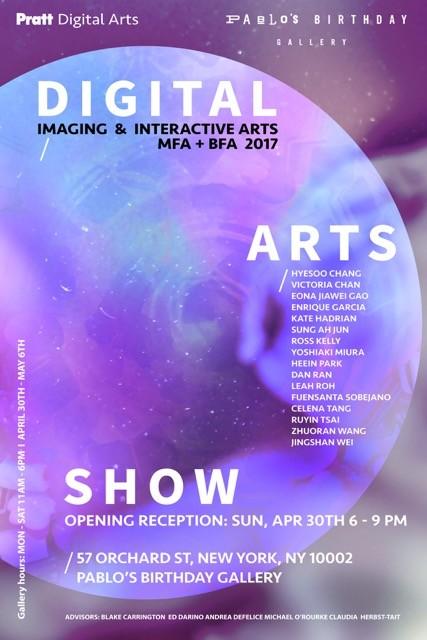 PRATT DIGITAL ARTS IMAGING & INTERACTIVE ARTS SHOW