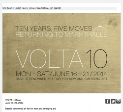 PABLO'S BIRTHDAY AT VOLTA10 BASEL. JUNE 16-21, 2014.