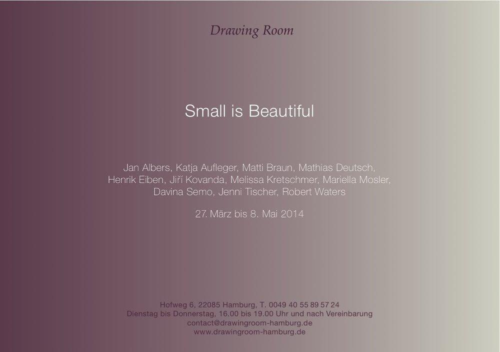 "HENRIK EIBEN IN ""SMALL IS BEAUTIFUL"""