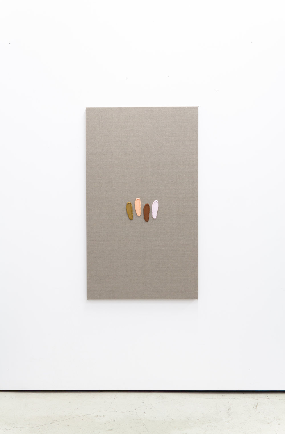 Untitled, 2019, Alkyd and acrylics on linen, 47.2 x 27.6 inches