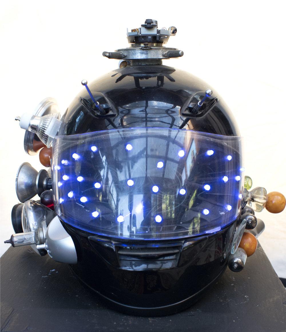 "Captain Satellite's Helmet 13"" x 10"" x 10"""