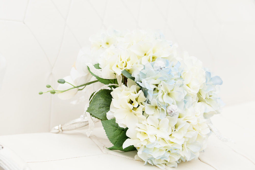Hydrangea wedding flower Bouquet  Flowers by:  Flowers and More   Photo:  Bret and Brandie Photography   Coordinating and Styling:  River Top Event Coordinating