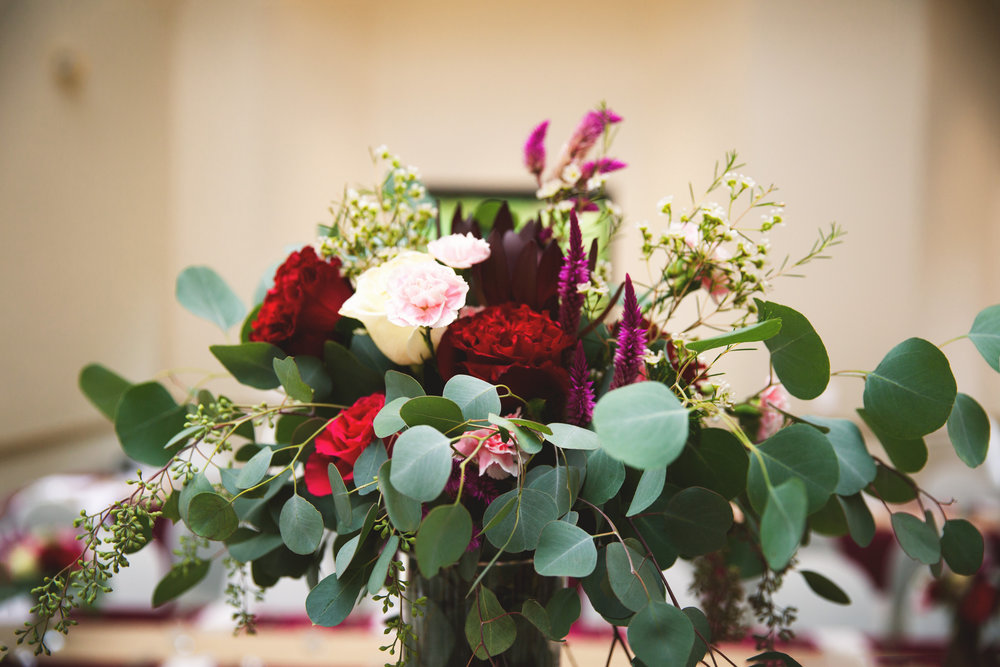 Fall Wine and Gold Wedding