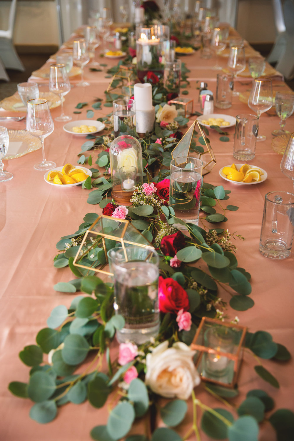 Wine and Gold Fall wedding