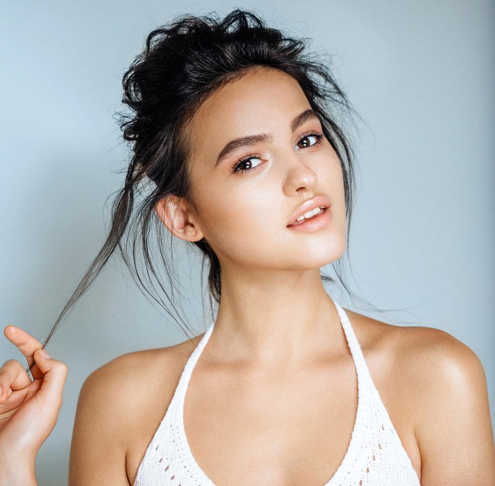 latina woman with great skin