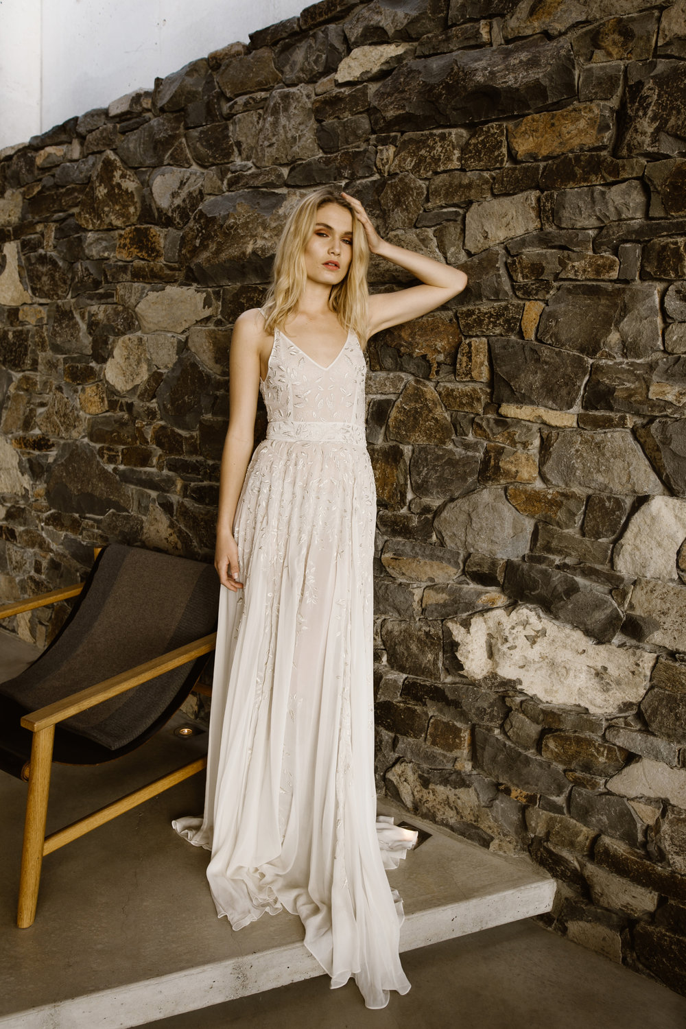 Piece 1 is a Romantic  simple wedding gown by L'eto Bridal