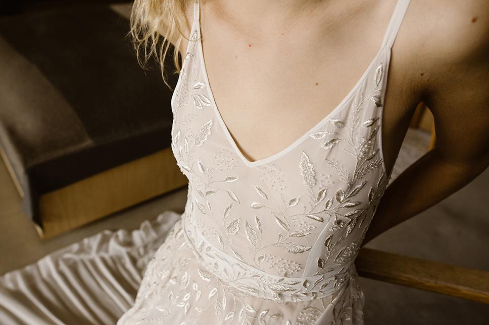 Sexy modern bridal gown by L'eto bridal
