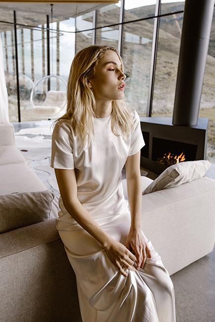 Chic sleek contemporary wedding gown by L'eto Bridal