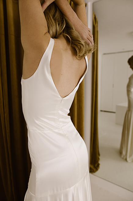Sensual figure hugging silhouttes are so attractive in this L'eto Bridal Piece 9 wedding gown