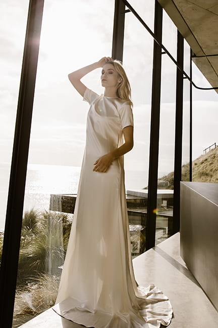 T shirt modern wedding dress by Ausralian wedding store L'eto bridal