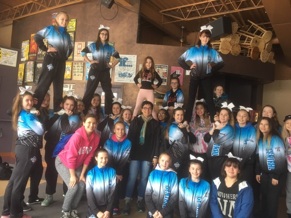 Central Cheer Cheetahs came out to help host the 2017 Clean Up
