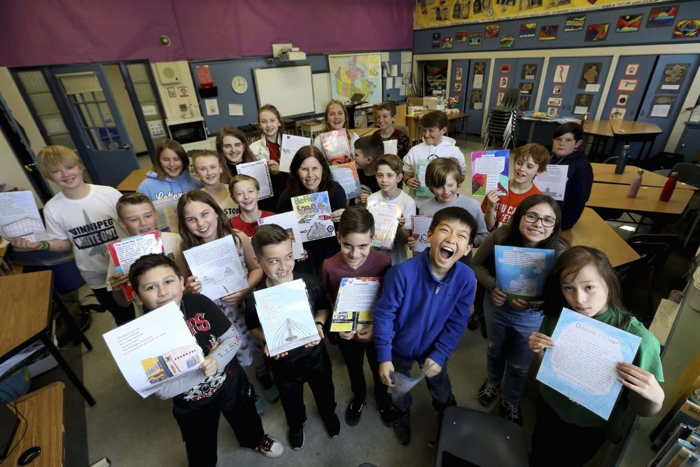 Now you know your ABCs...Won't you play in Winnipeg with me? -- and the young authors, poets and artists at Brock Corydon School